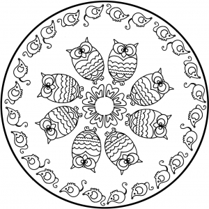 coloring page simple mandala 6