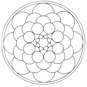 coloring page simple mandala 7