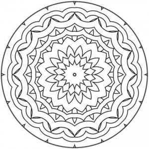 coloring page simple mandala 8