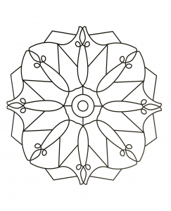 coloring page simple mandala 85 free to print