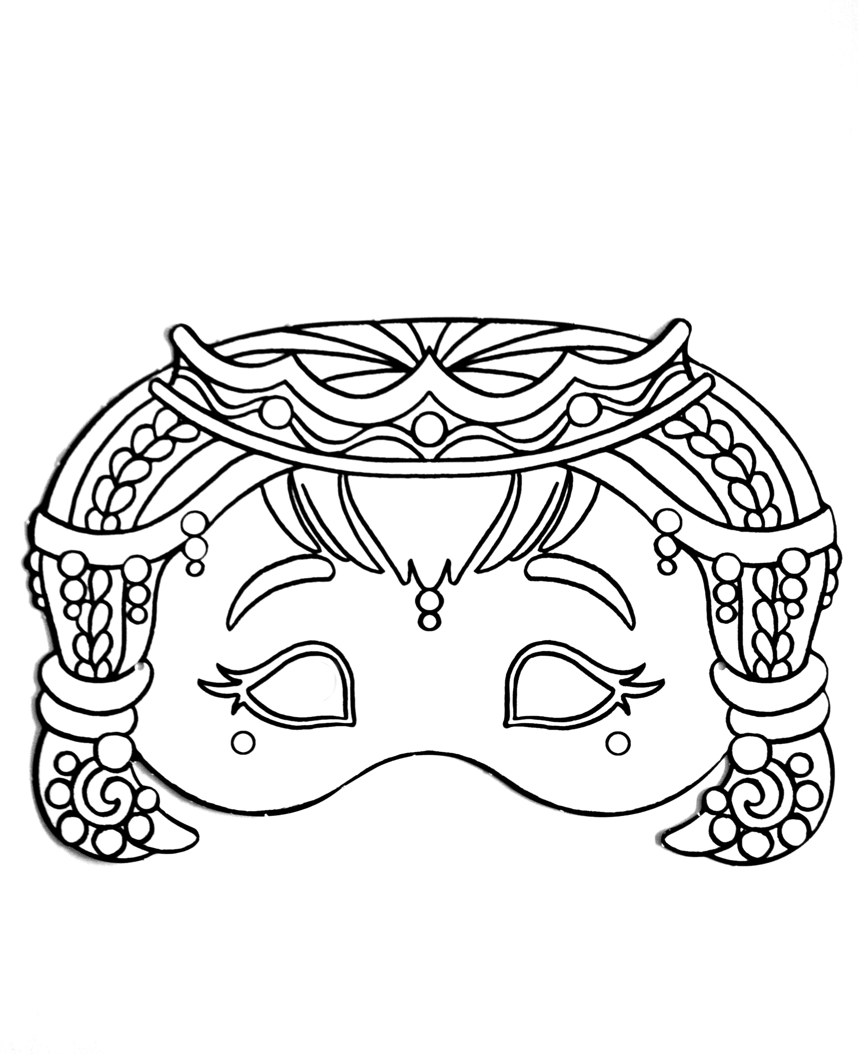 Carnival Mask For Kid 4 Masks Coloring Pages For Kids To