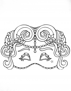 coloring carnival mask for kid 1