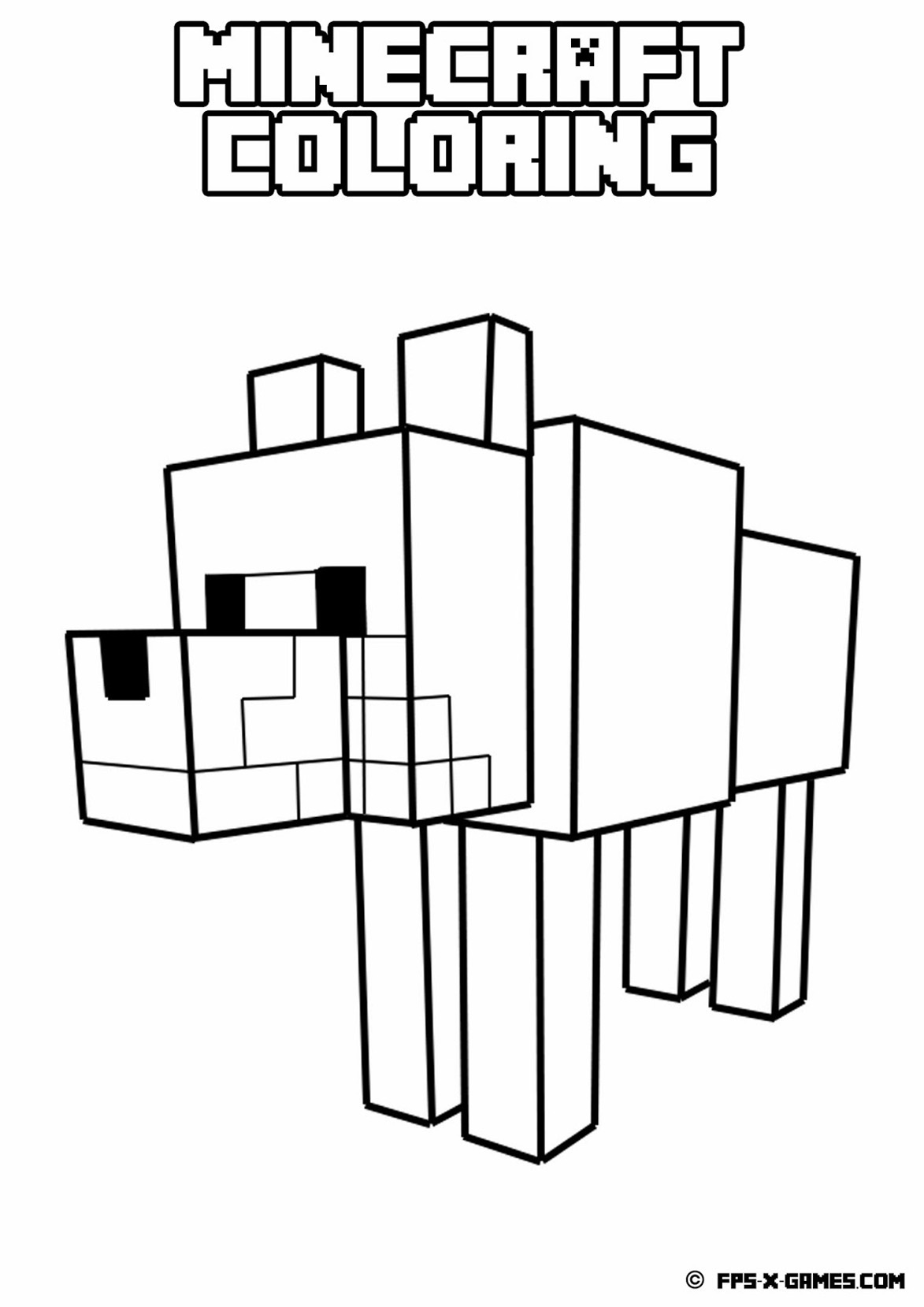 Coloring Page Drawing Inspired What Is This Strange Animal Drawn In Minecraft Style
