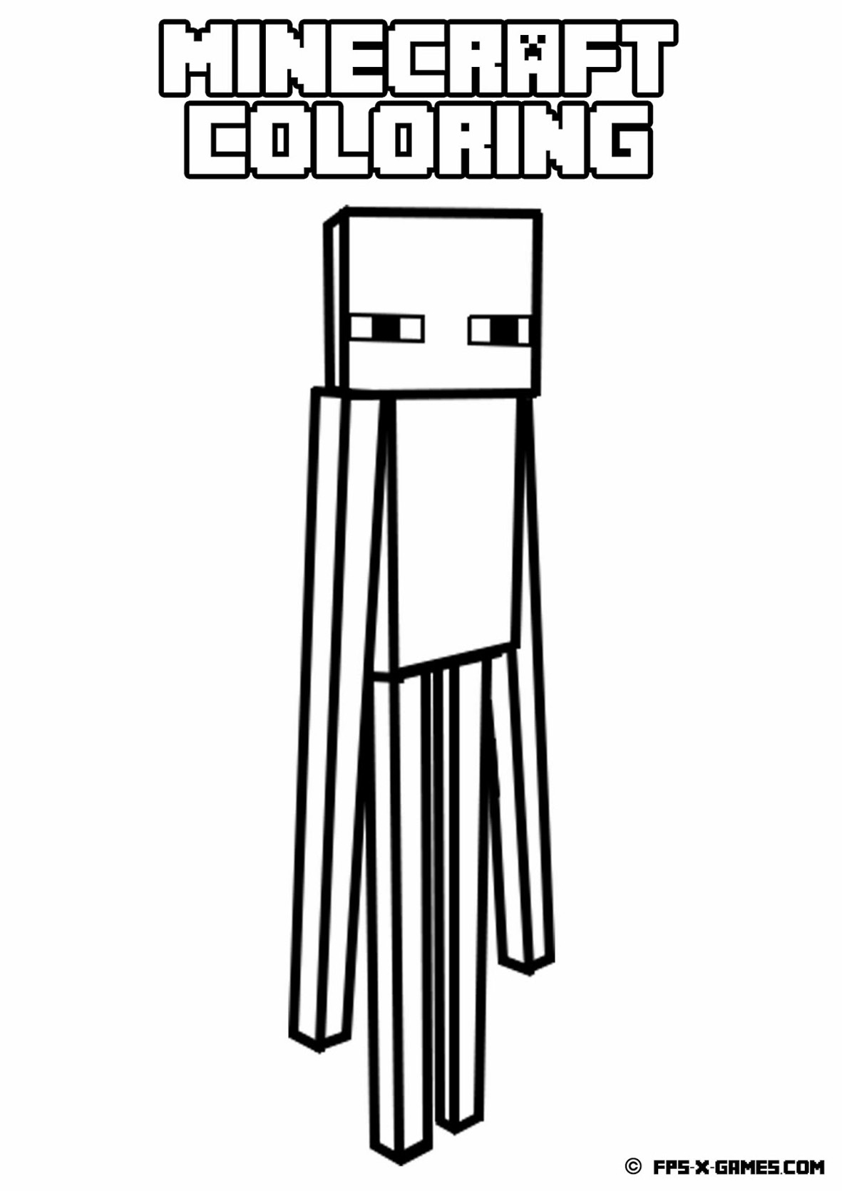 Drawing Inspired Minecraft Coloring Pages