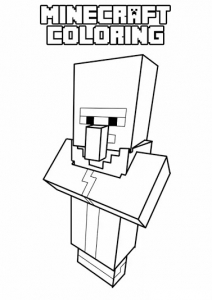 Coloring page drawing inspired by minecraft 1