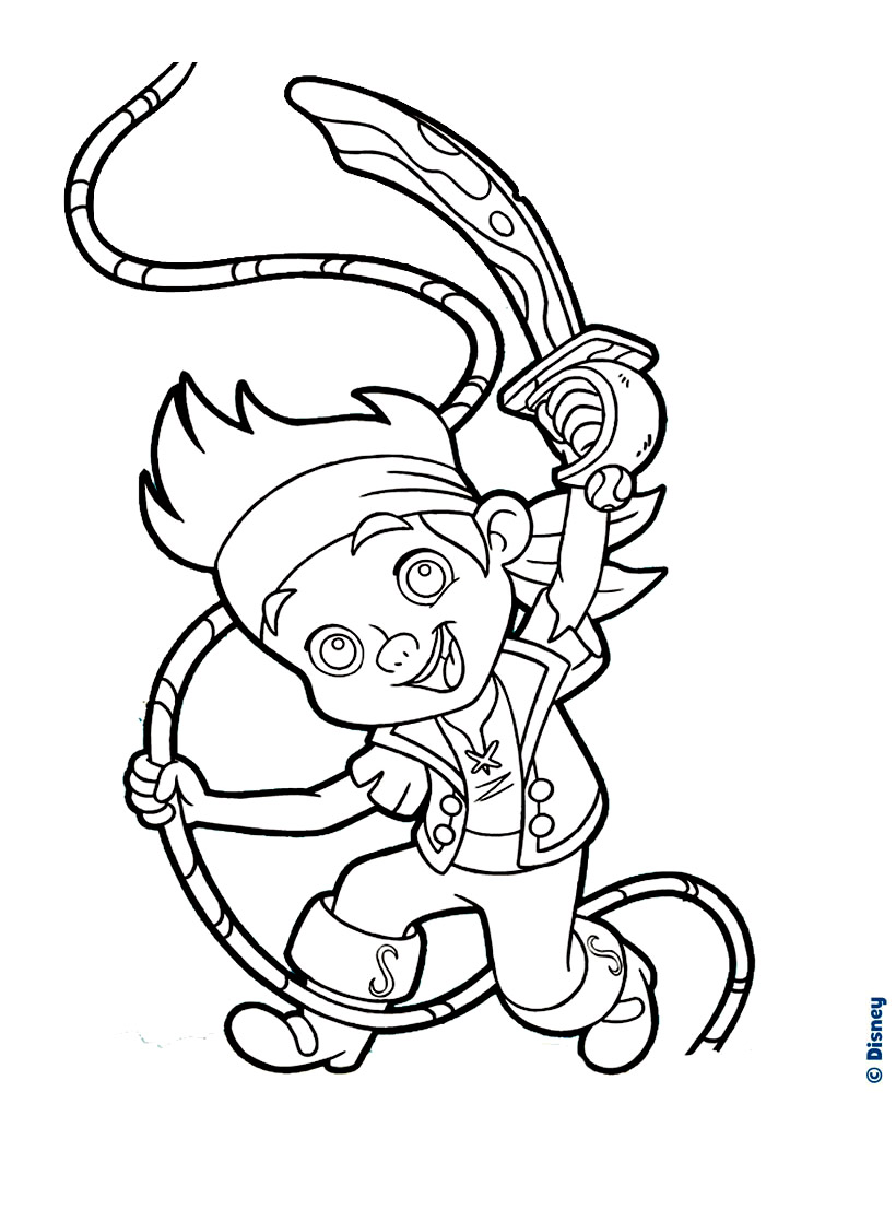 Pirate colouring pages to print - Coloring Disney Jack The Pirate Free To Print