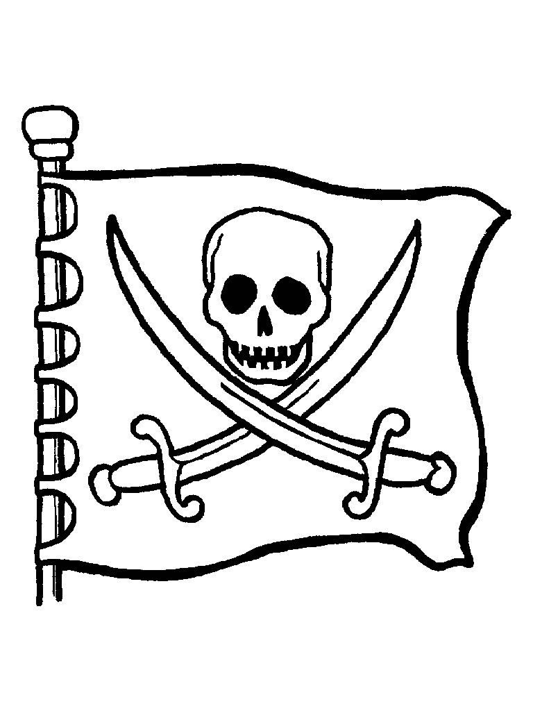 coloring pirate flag
