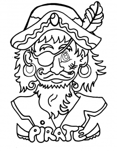 coloring pirate head