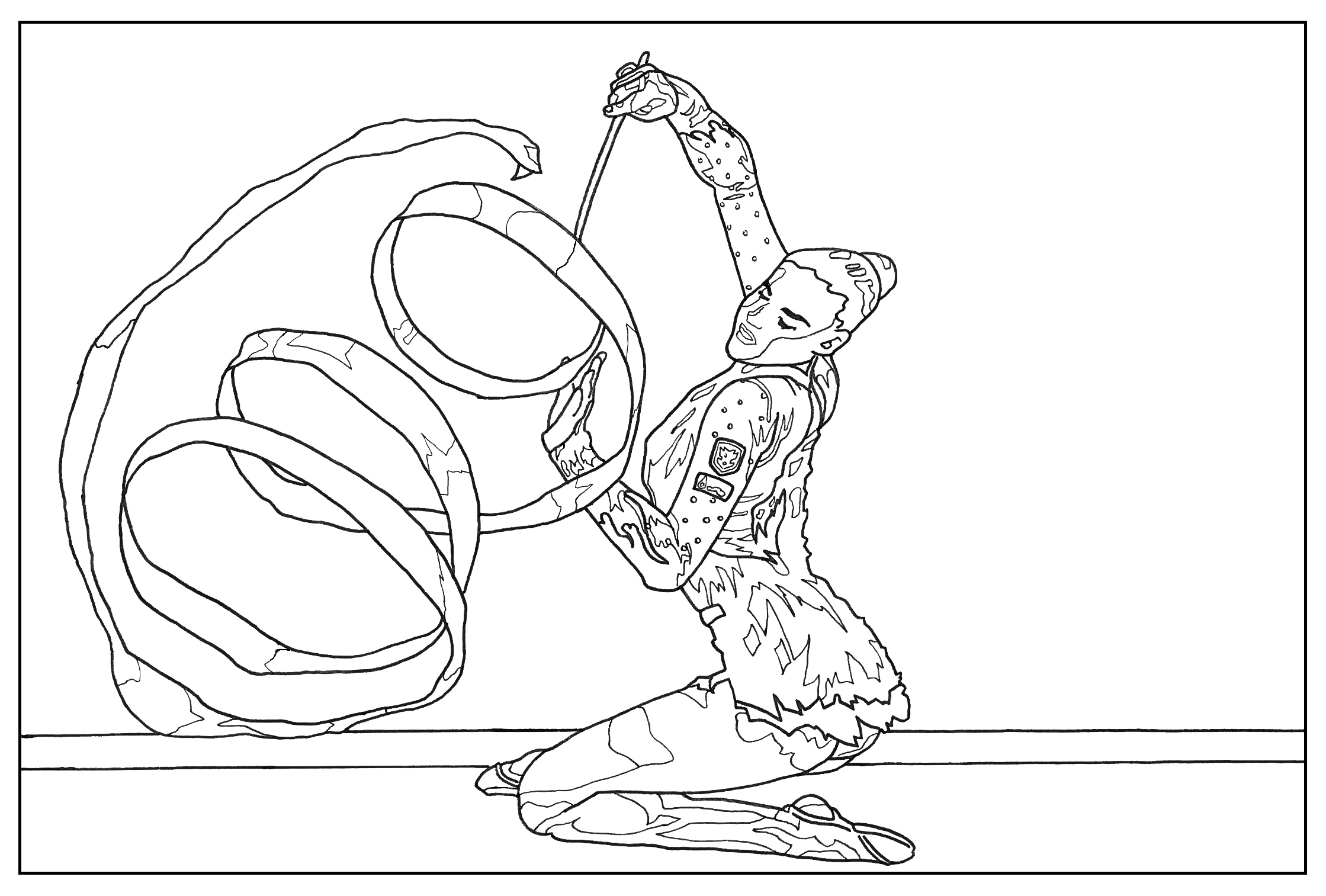 Sport gymnastic - Sport Coloring pages for kids to print & color