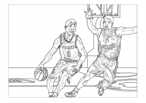 Coloring Sport Basketball Free To Print