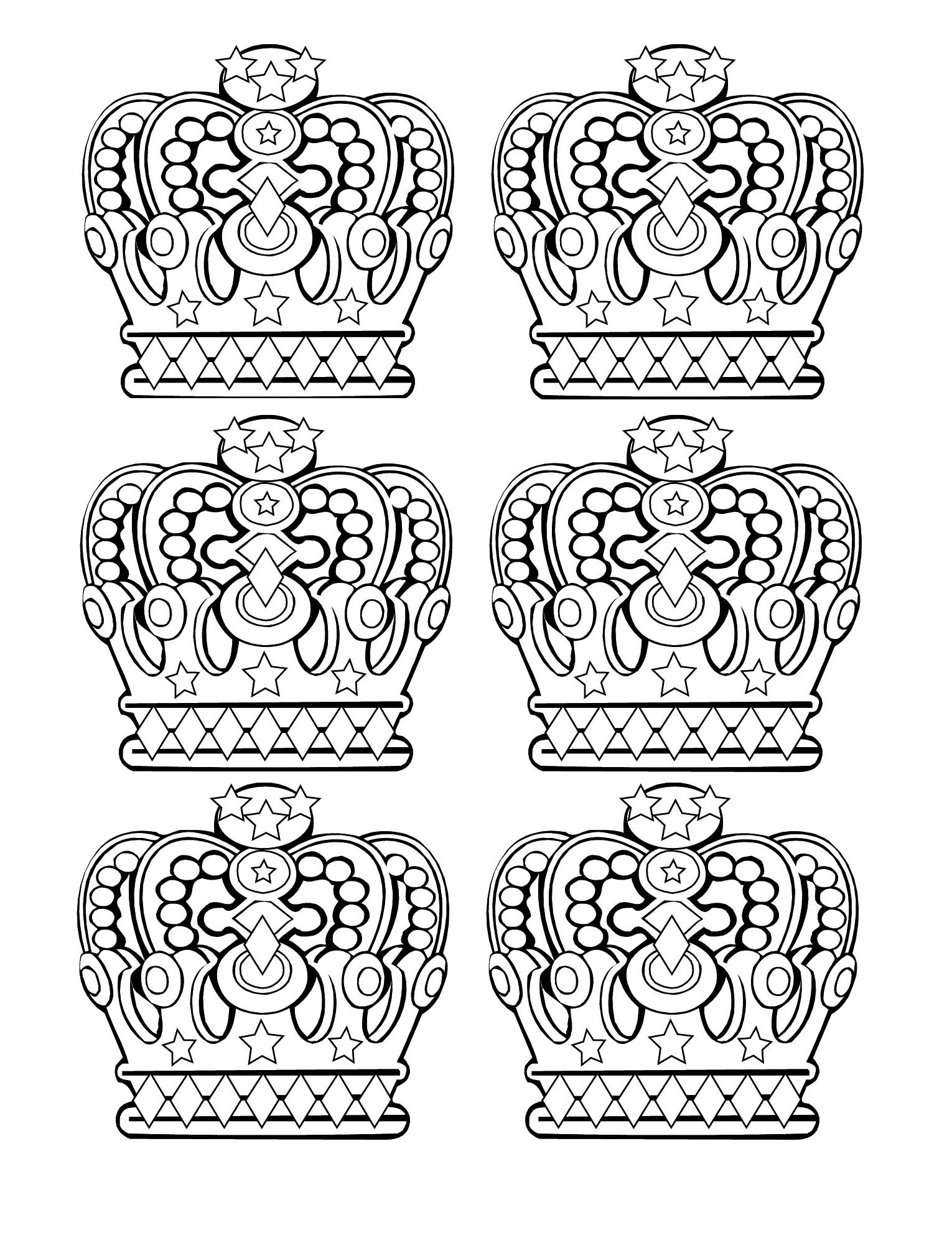 Royal crowns (6 patterns)