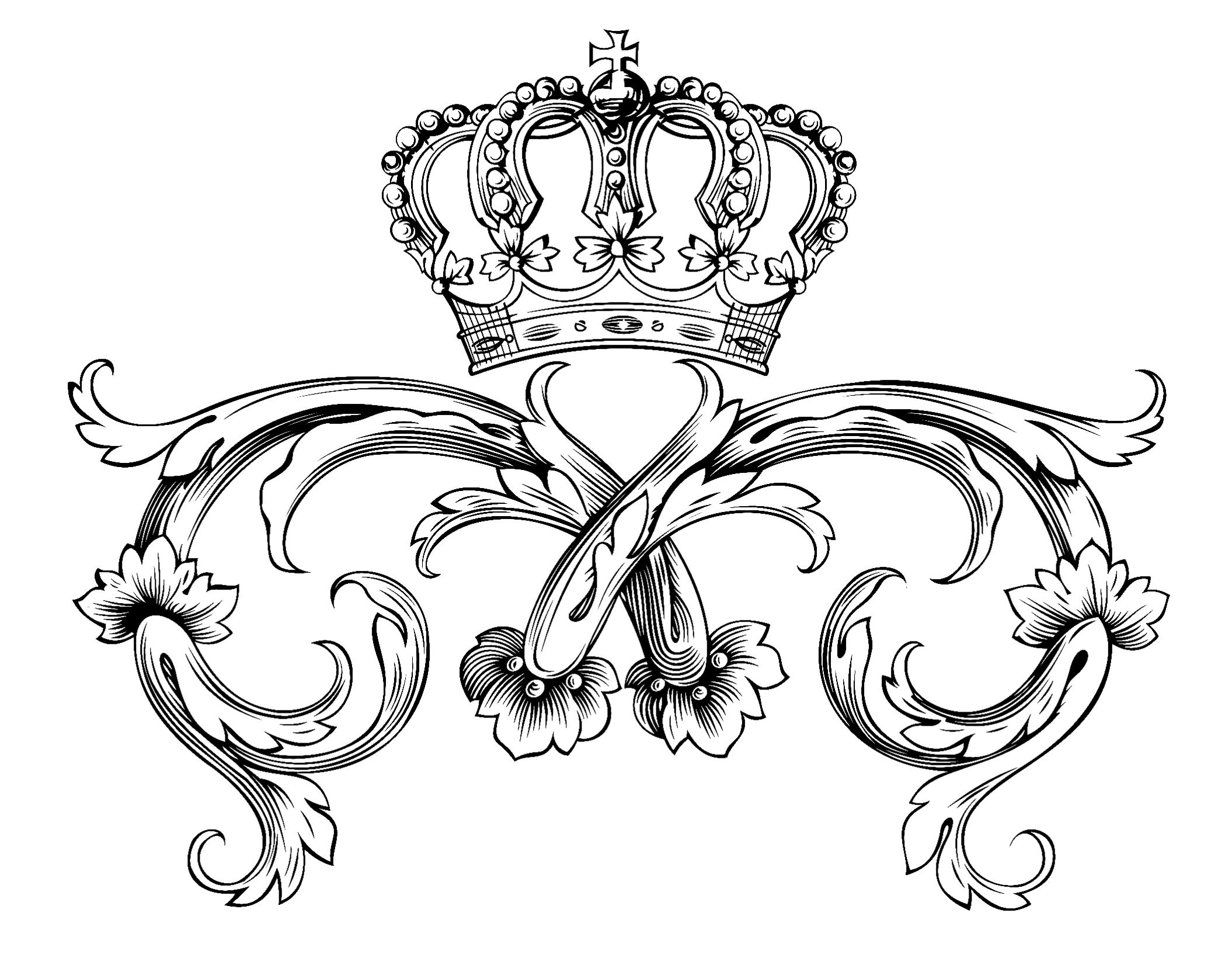 Royal symbol with crown