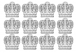 coloring-12-royal-crowns free to print