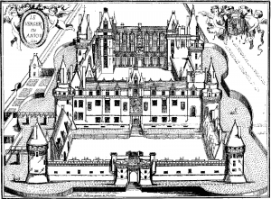coloring-castle-verger-engraving free to print