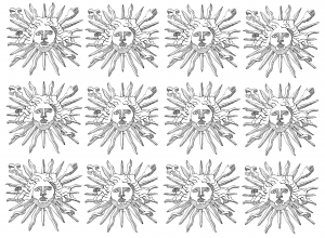 coloring-symbols-louis-14-sun-king free to print