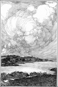 coloring page illustration sea franklin booth