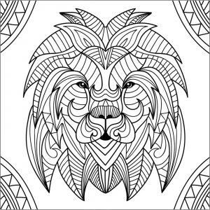Lions - Coloring Pages for Adults