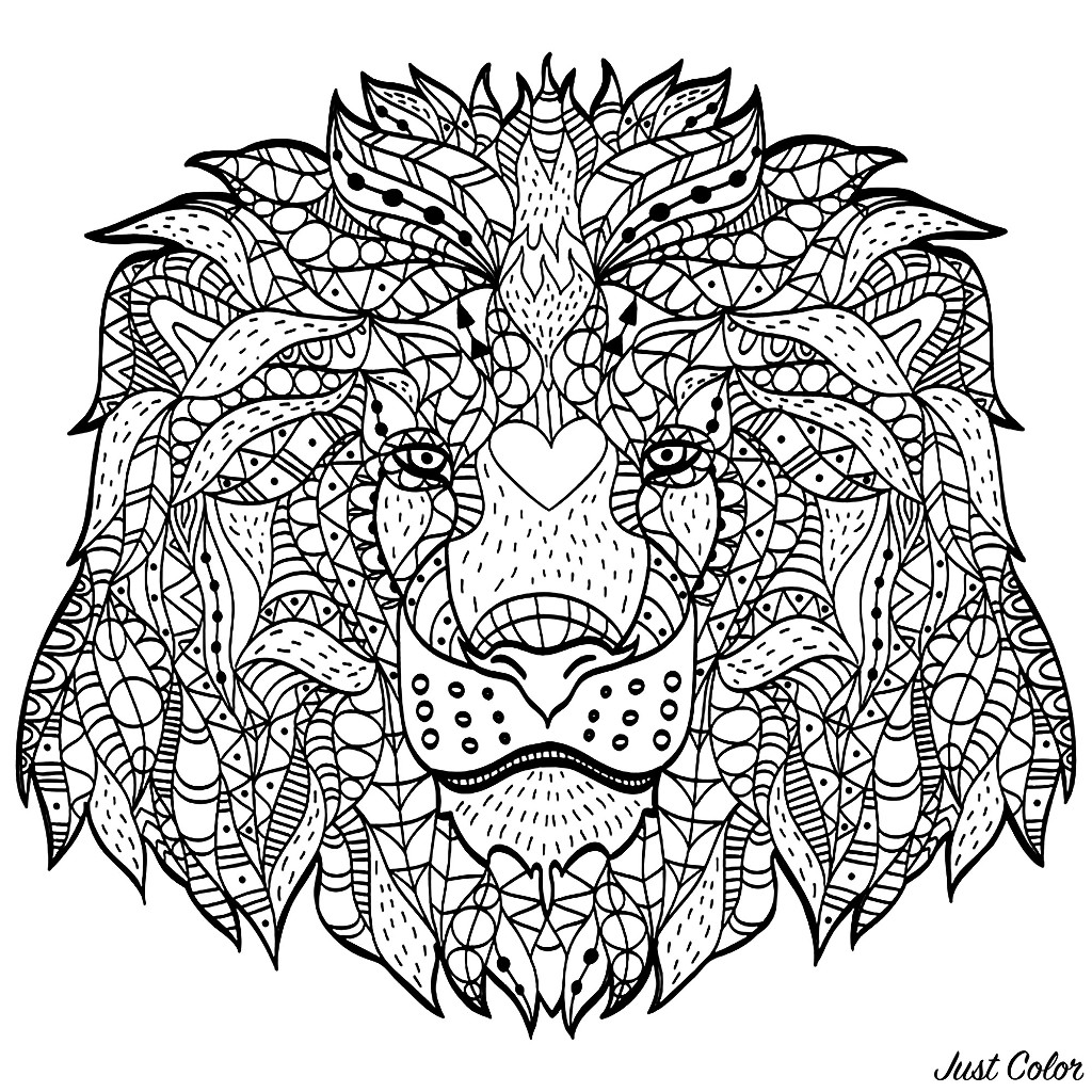 This lion's head created with Zentangle patterns will ask you a lot of concentration! Enjoy!