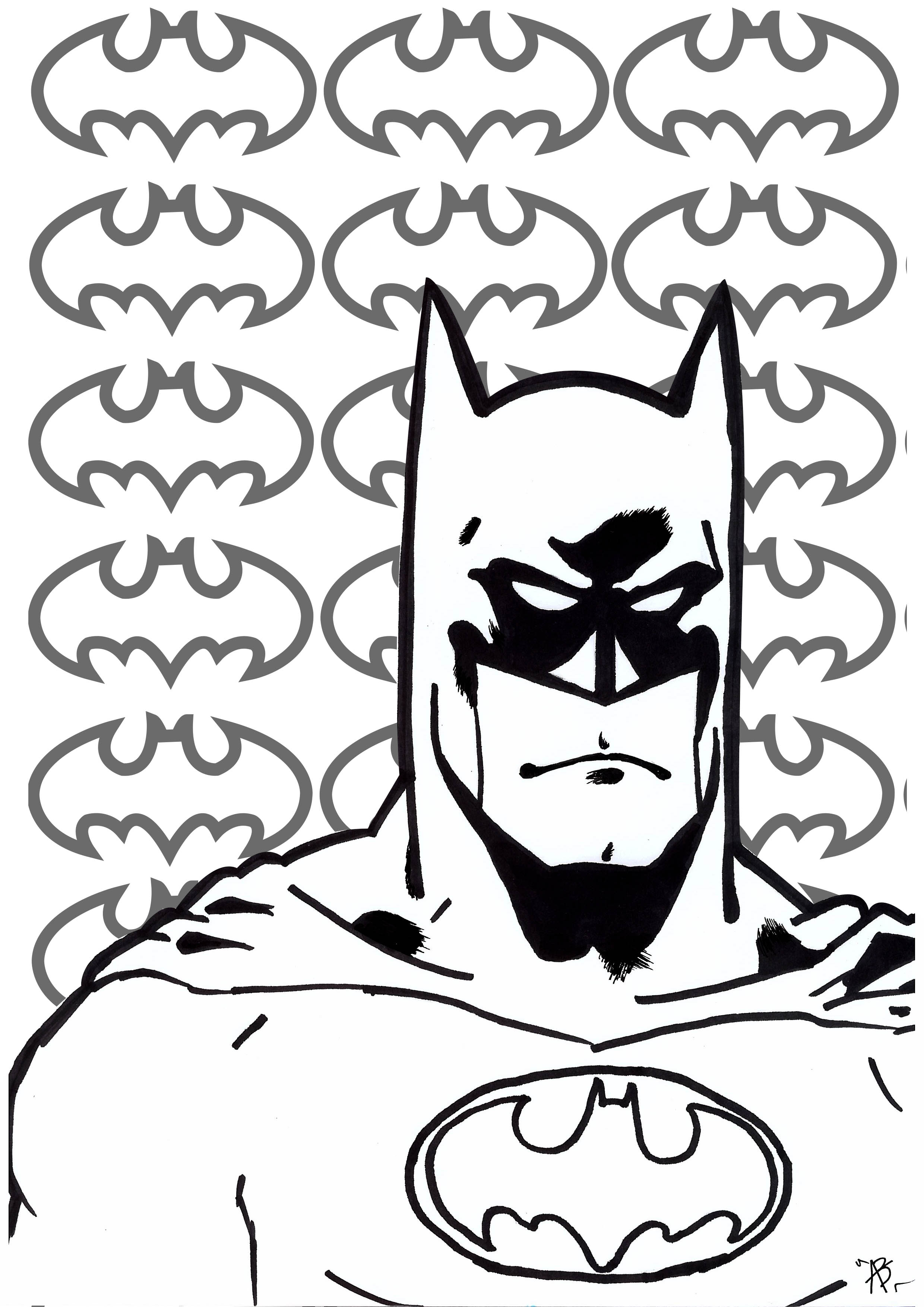 Coloring page inspired by The Batman (DC Comics character)
