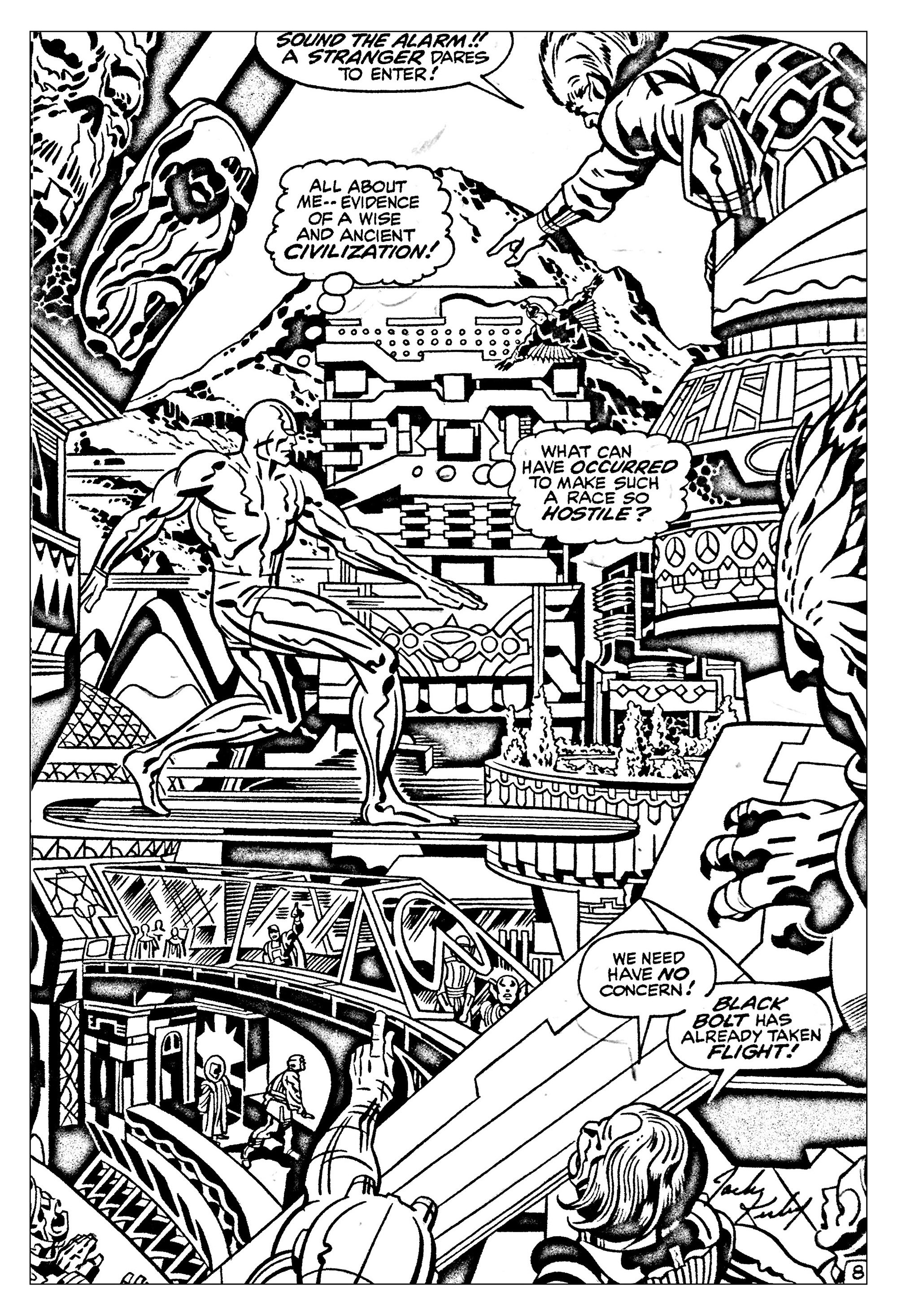 Comics Fantastic Four Silver Surfer 60s Books Adult Coloring Pages