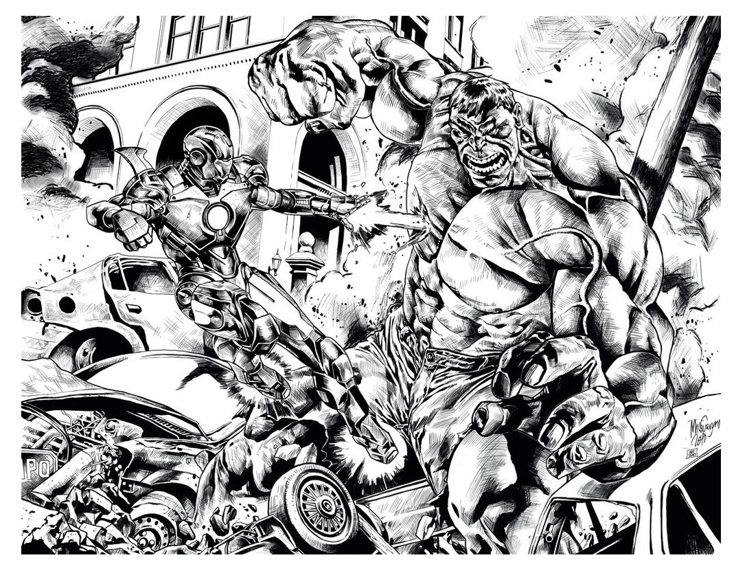 Iron Man Vs Hulk Books Adult Coloring Pages