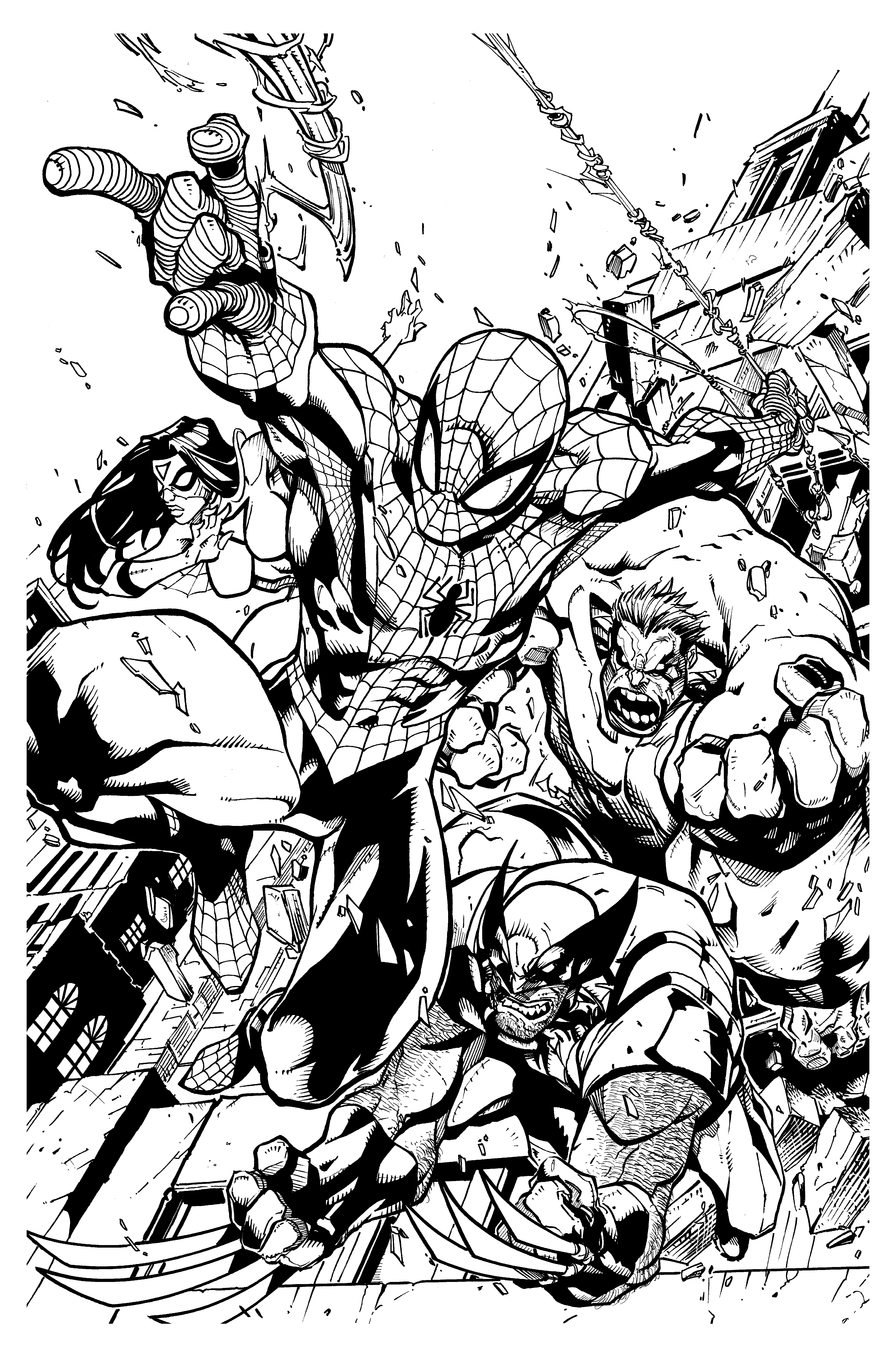 Comics spiderman wolverine mattjamescomicarts - Books Adult Coloring ...