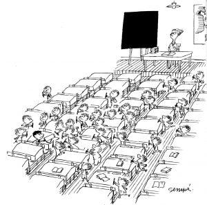 """""""Le petit nicolas"""" in his classroom"""