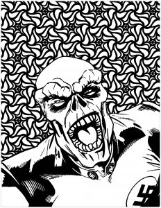 Coloring marvel villains Red Skull