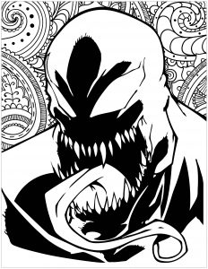Coloring marvel villains Venom