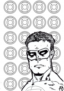 Coloring Page Inspired By Green Lantern DC Comics Character