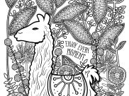 Llamas Coloring Pages for Adults