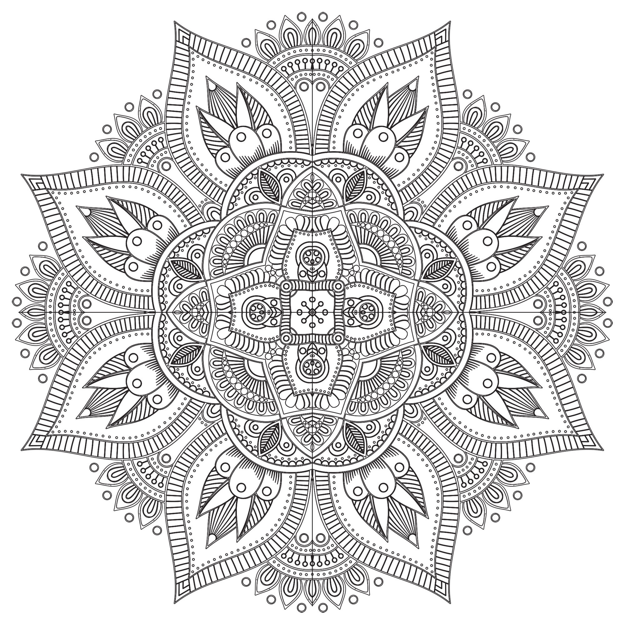 Zen & Anti-Stress Mandala - 8