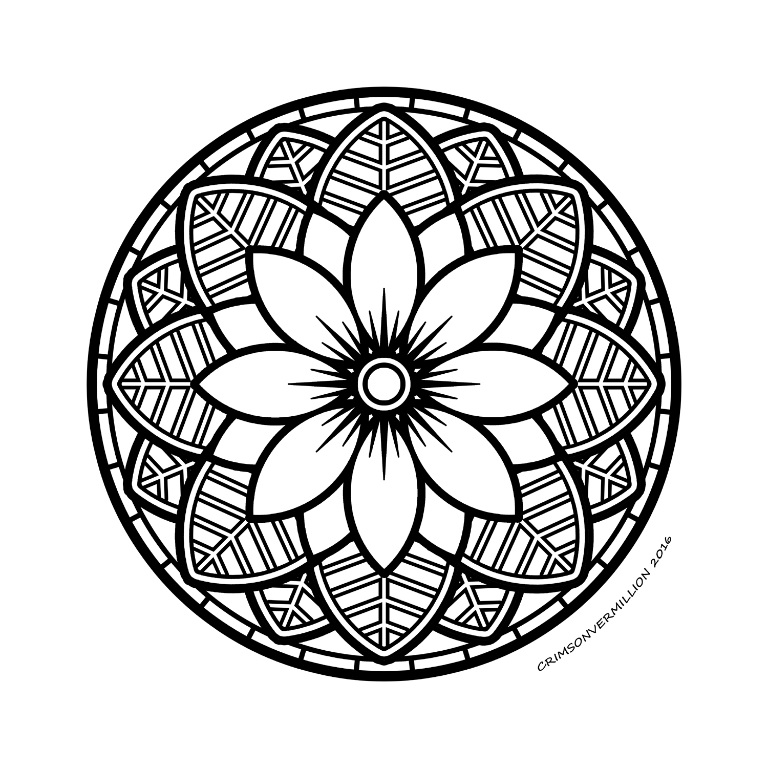 Color this mandala to time travel with it!