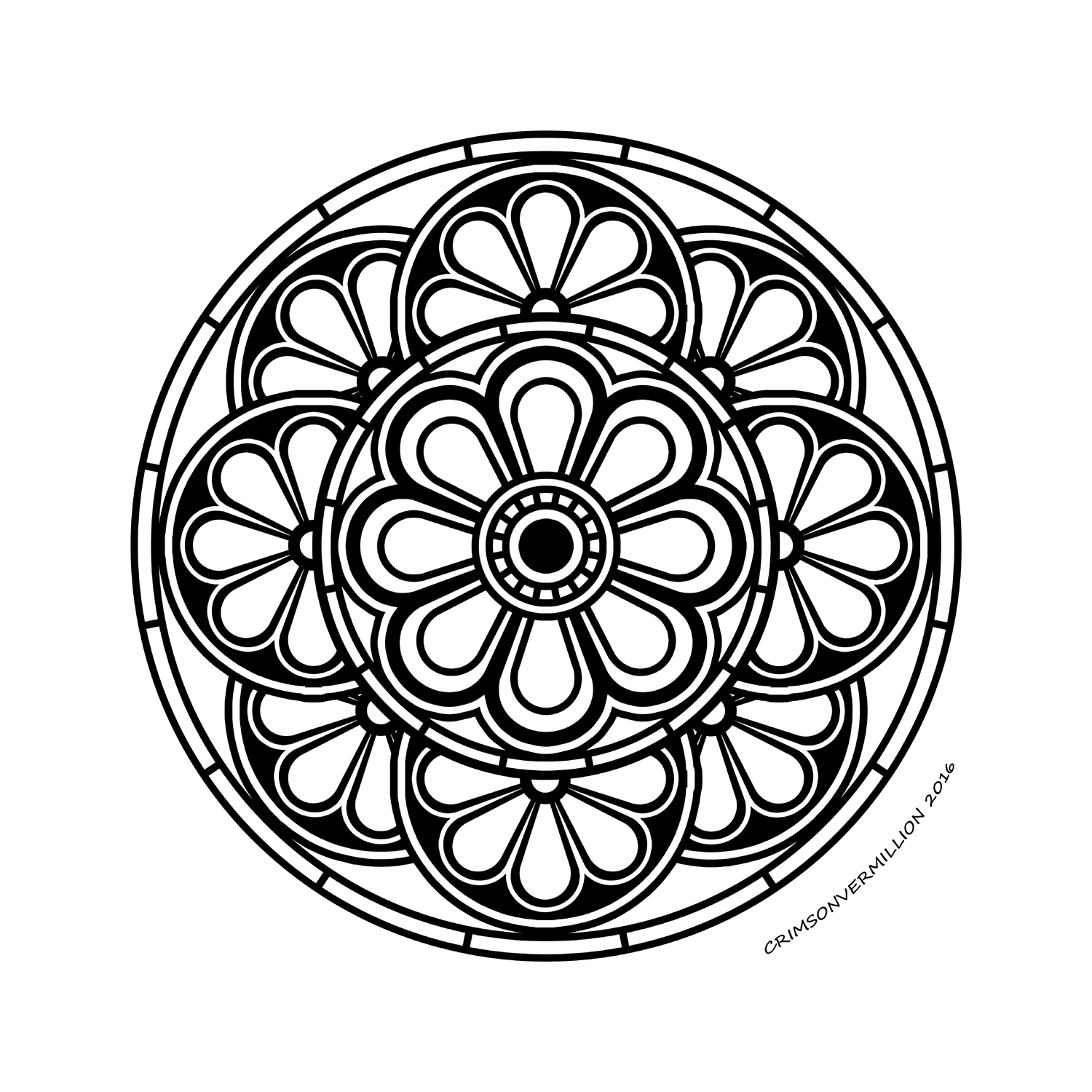 With all his rounded, this mandala is absolutely transcendent!