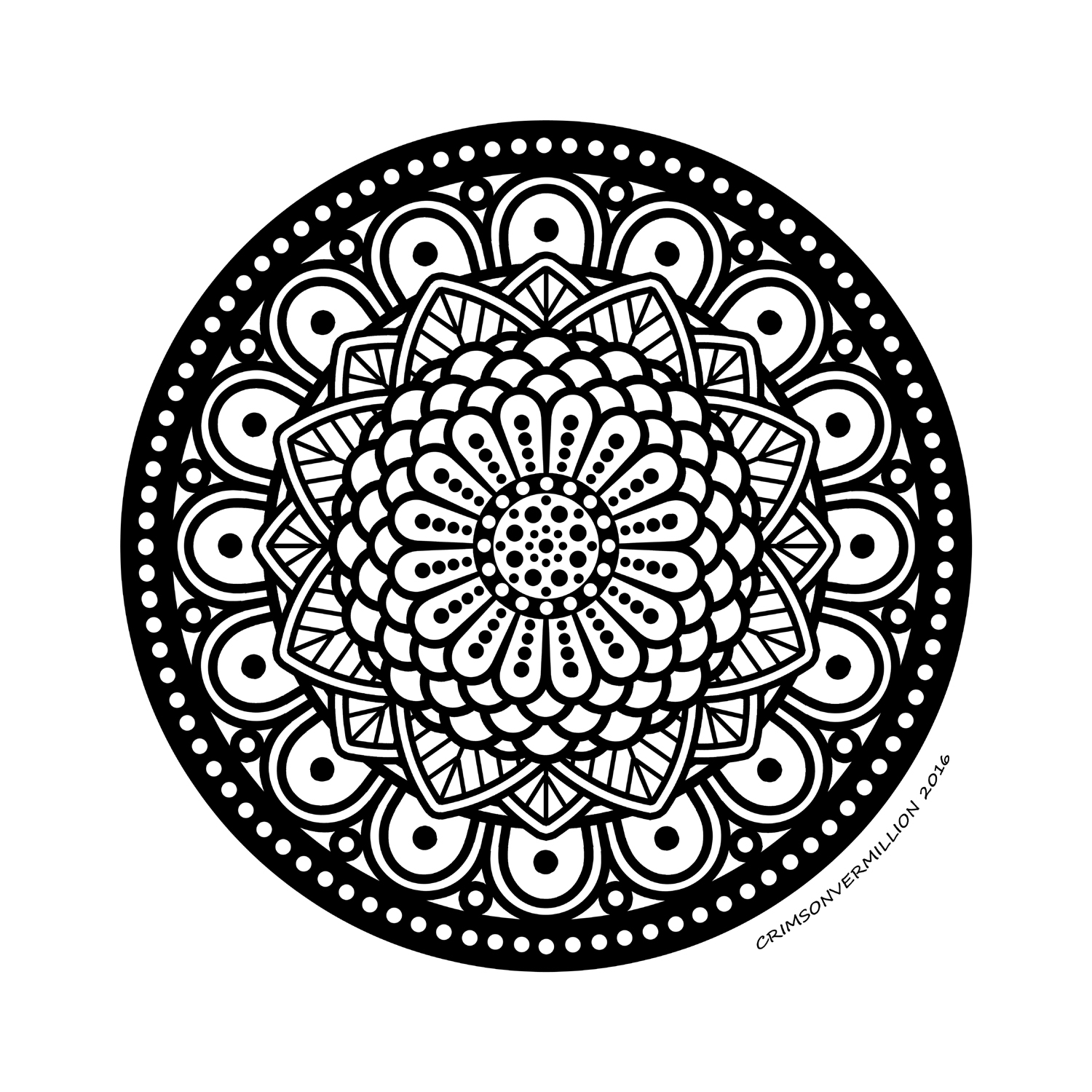 The echo of those spheres resounds in the heart of this mandala.