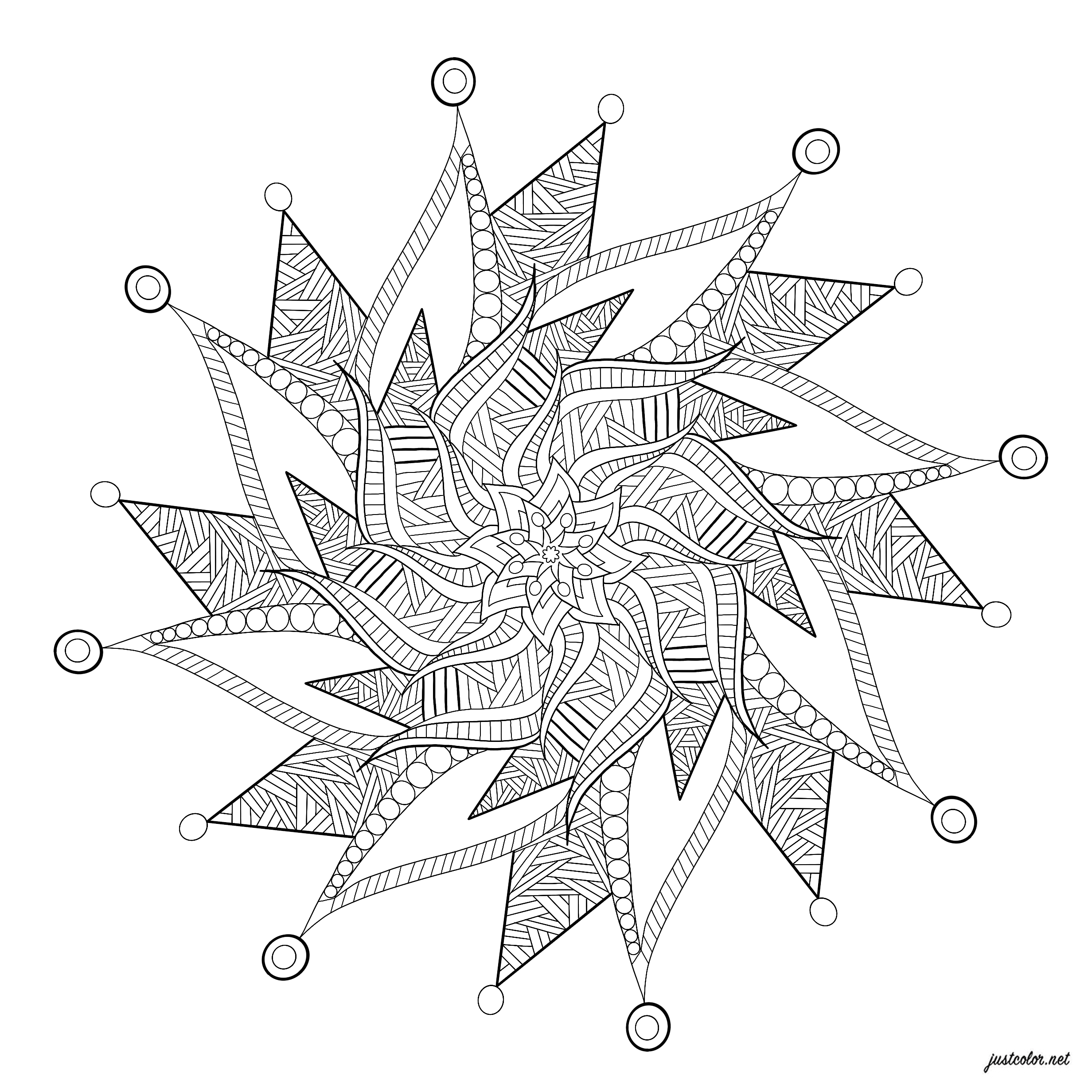 Calming sensory relaxing Mandala with soothing details