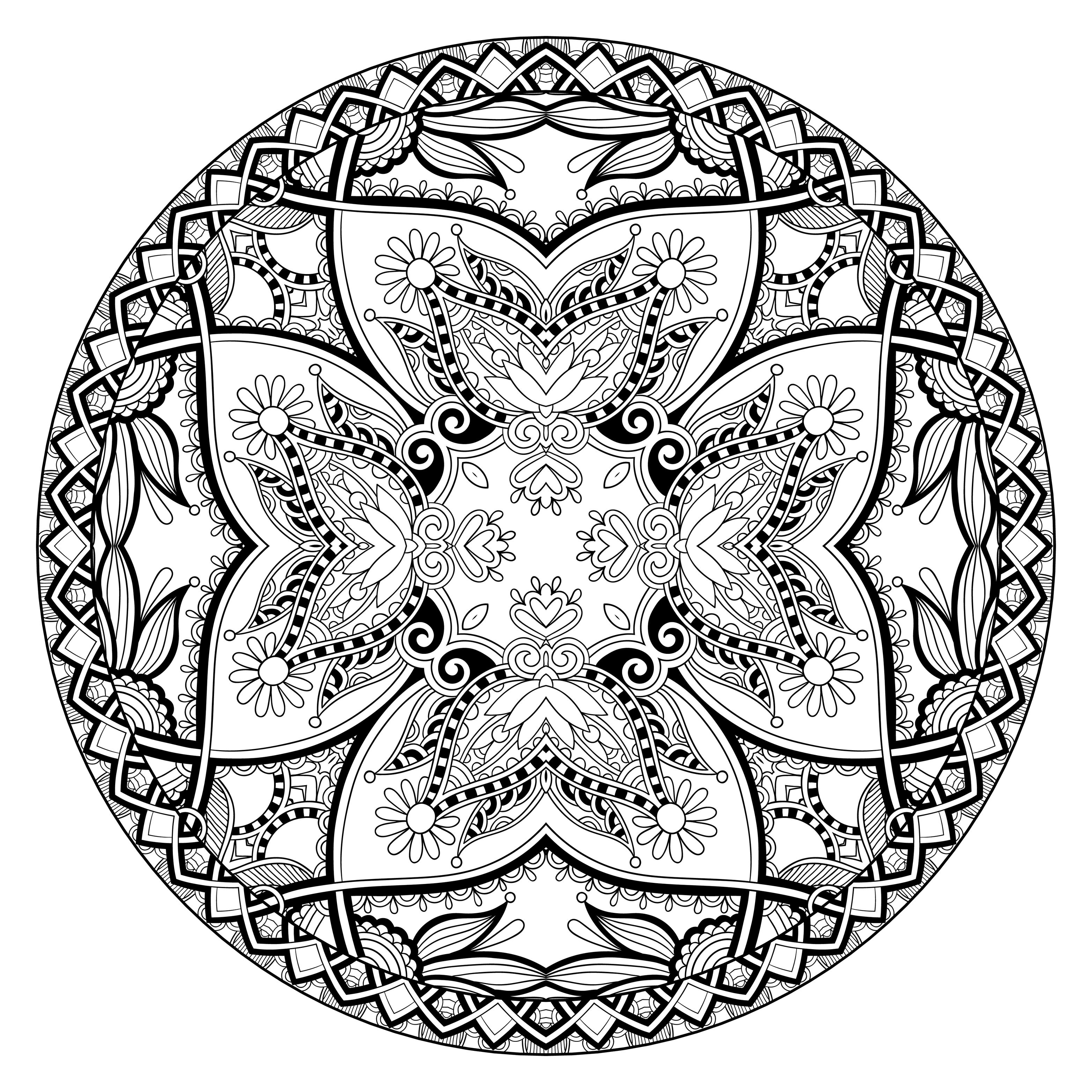 Mandalas to download for free by Lesya Kara-Kotsya