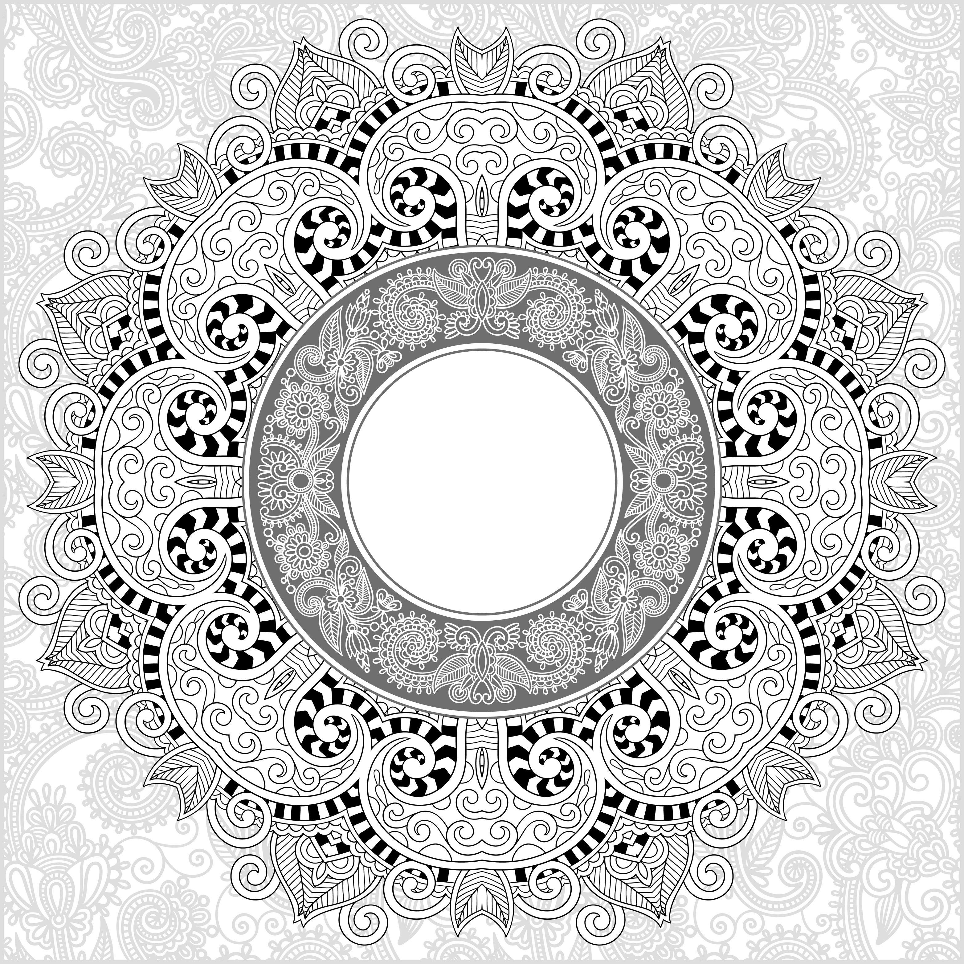 Mandala by karakotsya 3 - Mandalas Adult Coloring Pages