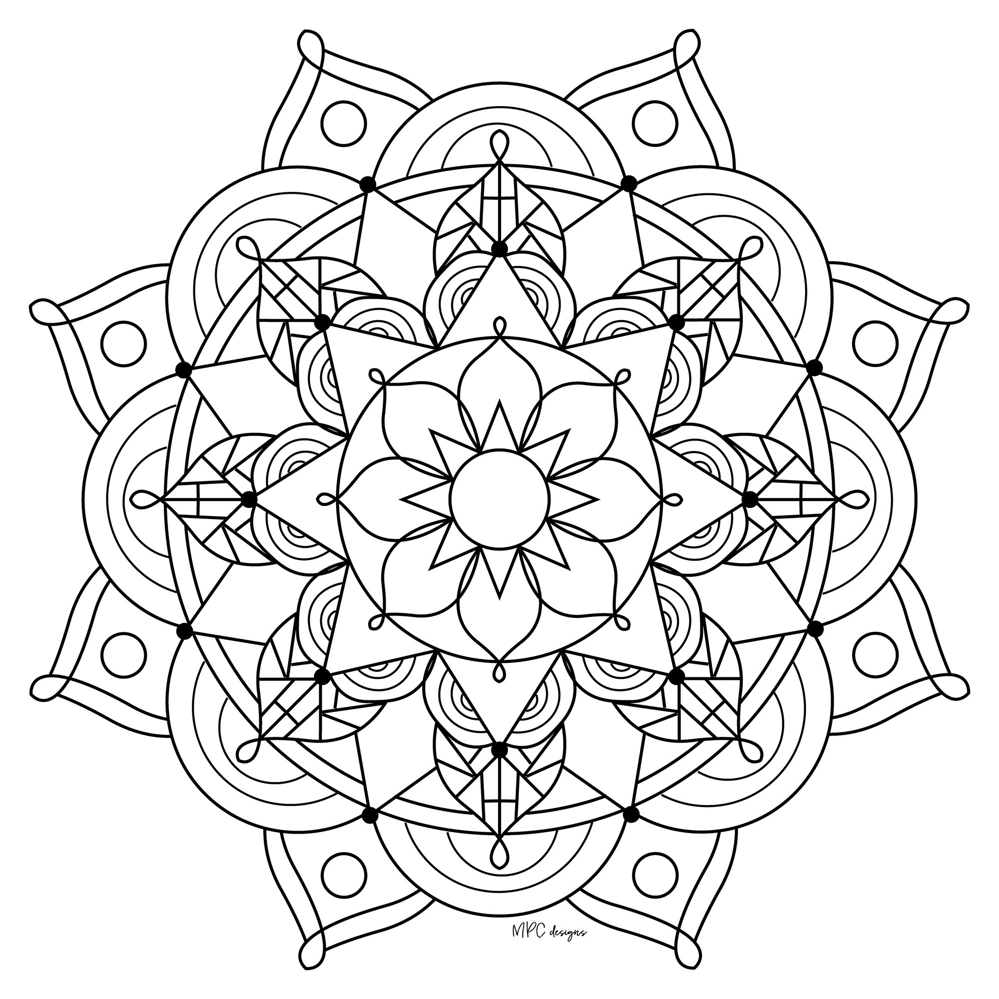 Mandala with petals | From the gallery : Mandalas | Artist : MPC Design