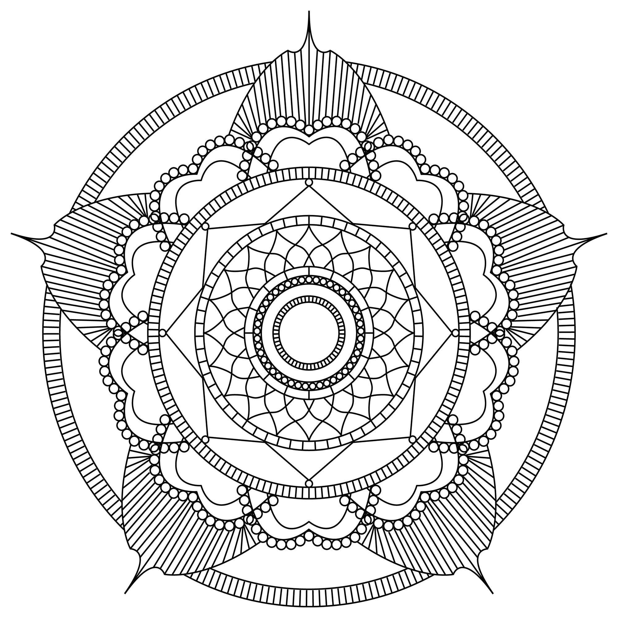 Magnificent Mandala to print and color