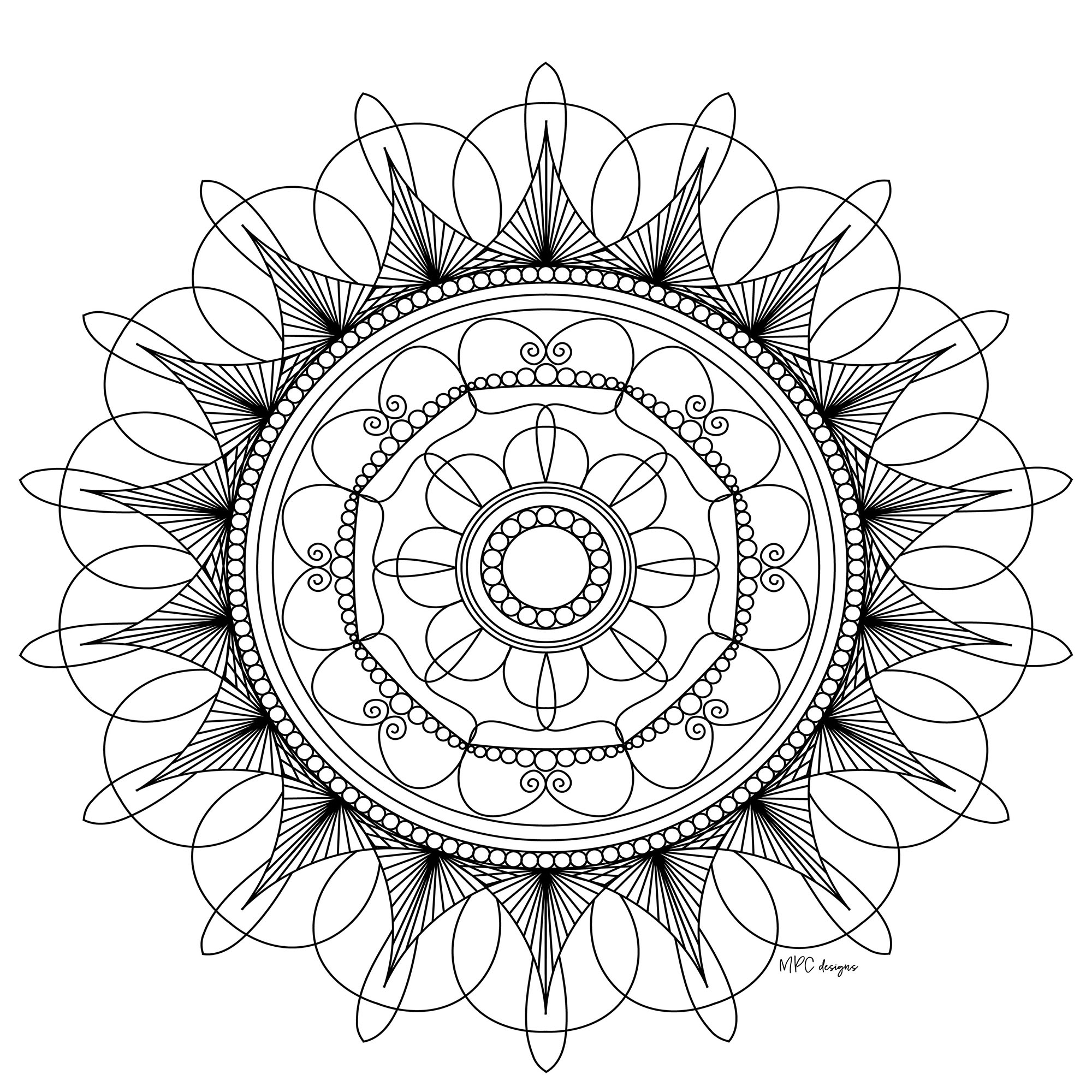 Mandala with pearls