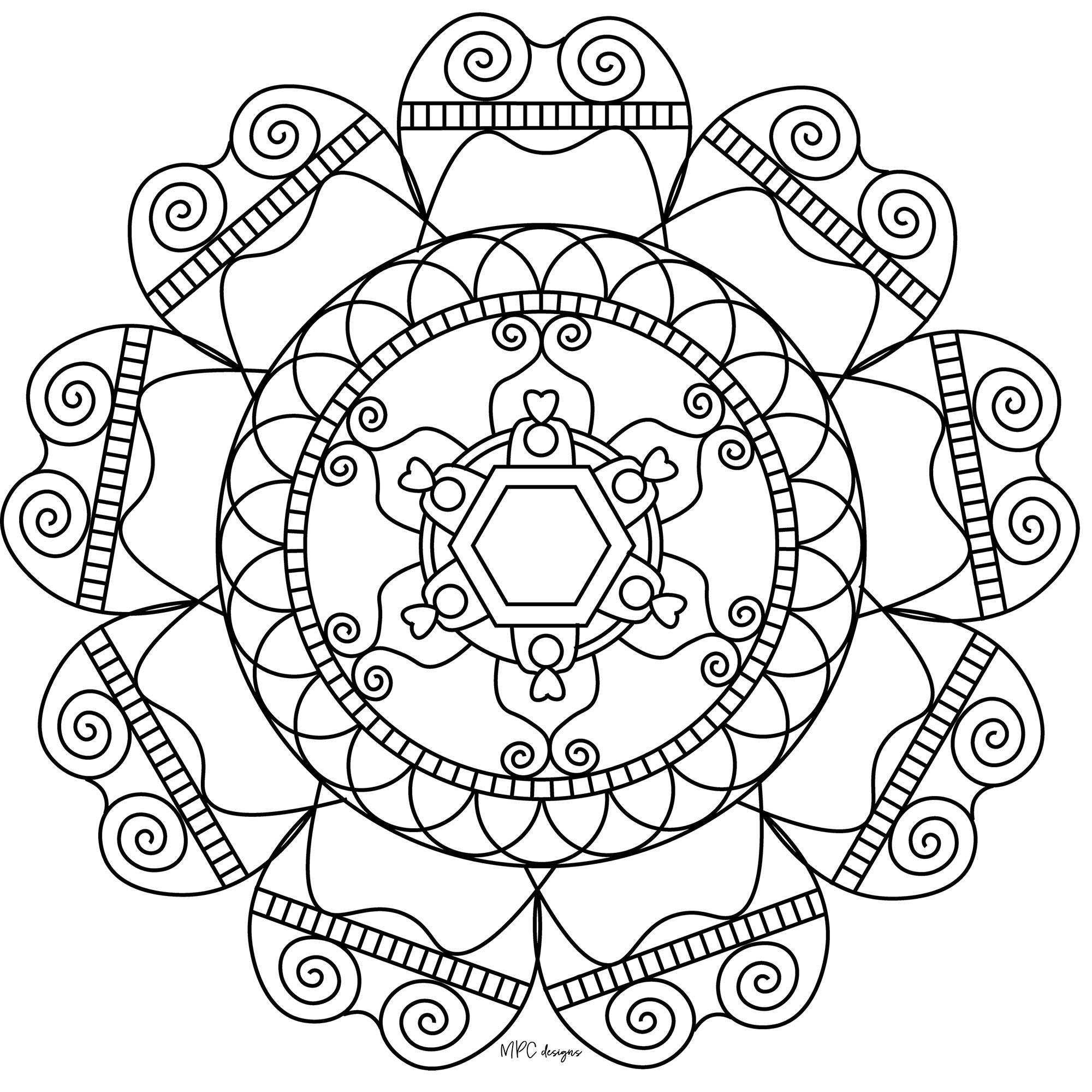 Mandala with arabesques