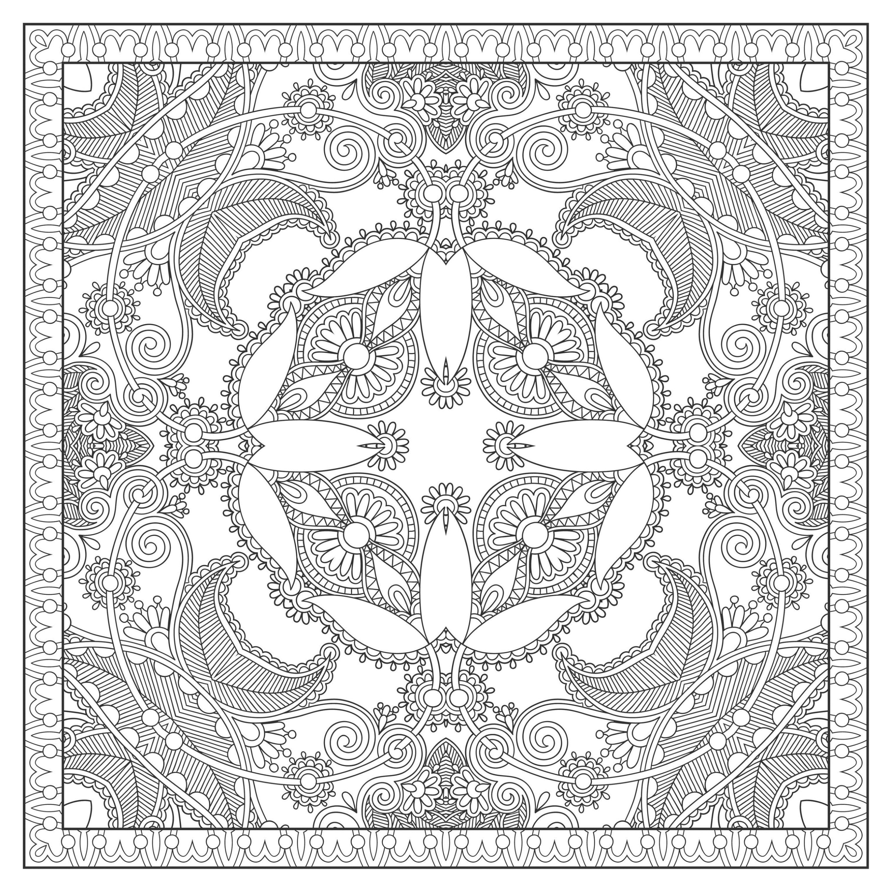 A beautiful square Mandala by Lesya Kara-Kotsya