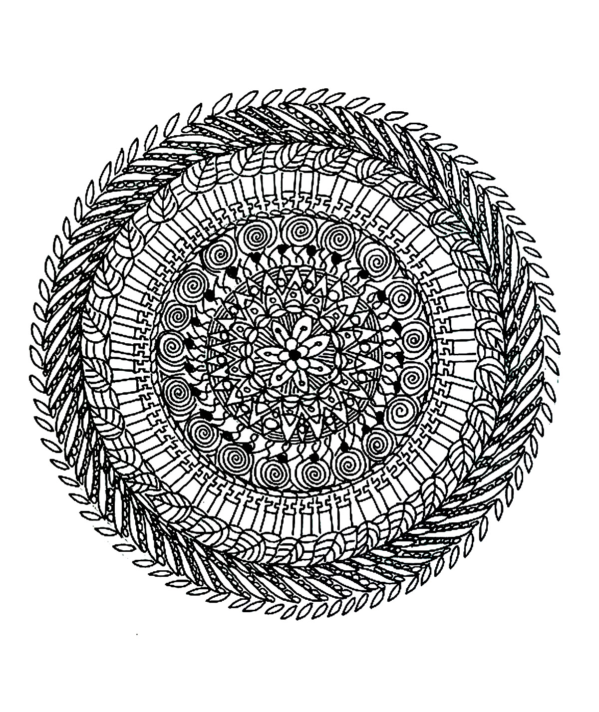 free mandala difficult to print 2 mandalas coloring pages for