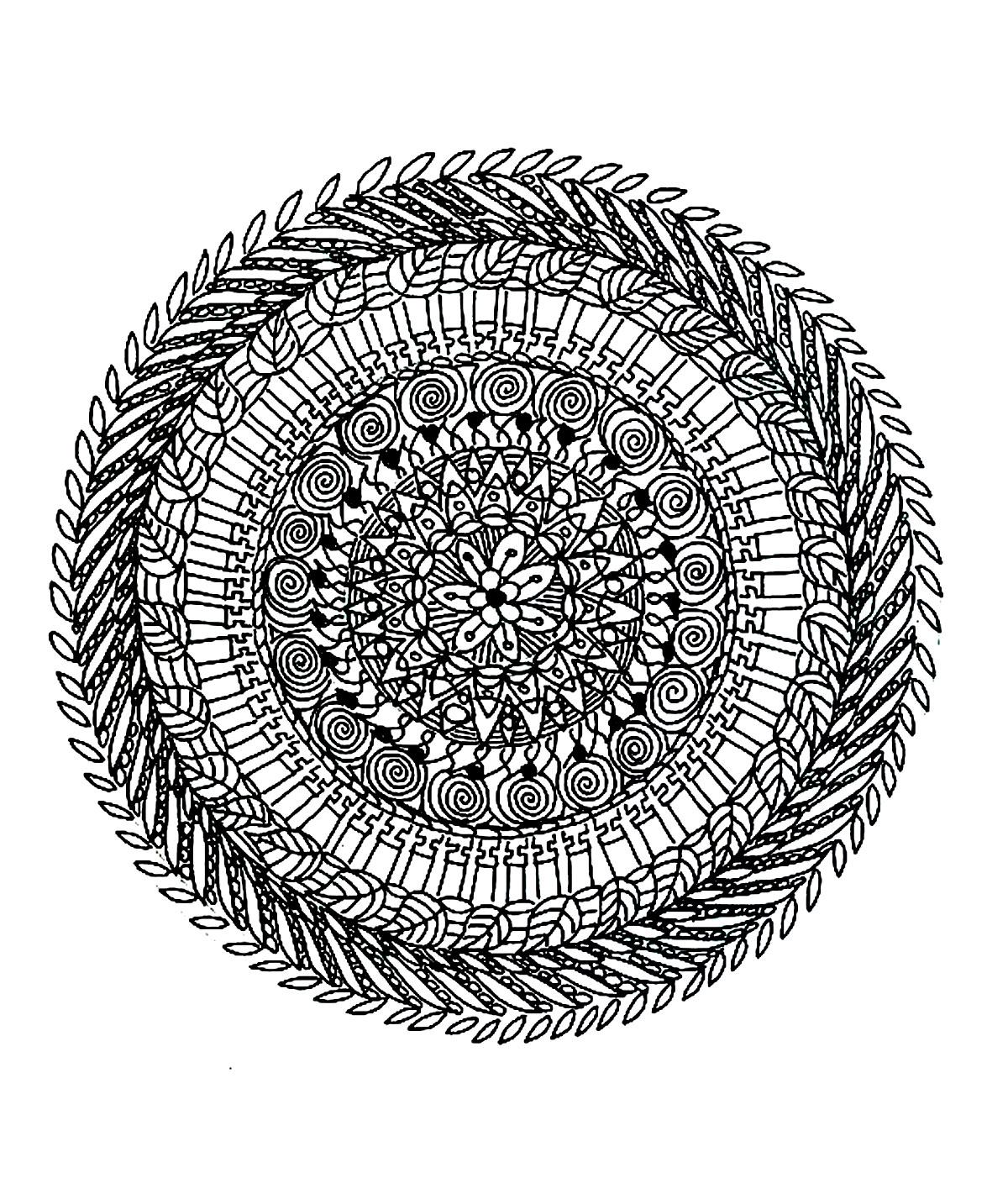 Free Mandala For To Print 2 Mandalas Adult Coloring Pages