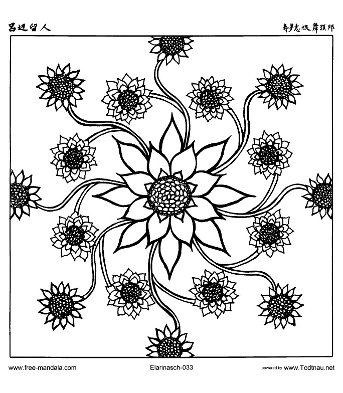 Free mandala for to print : 6