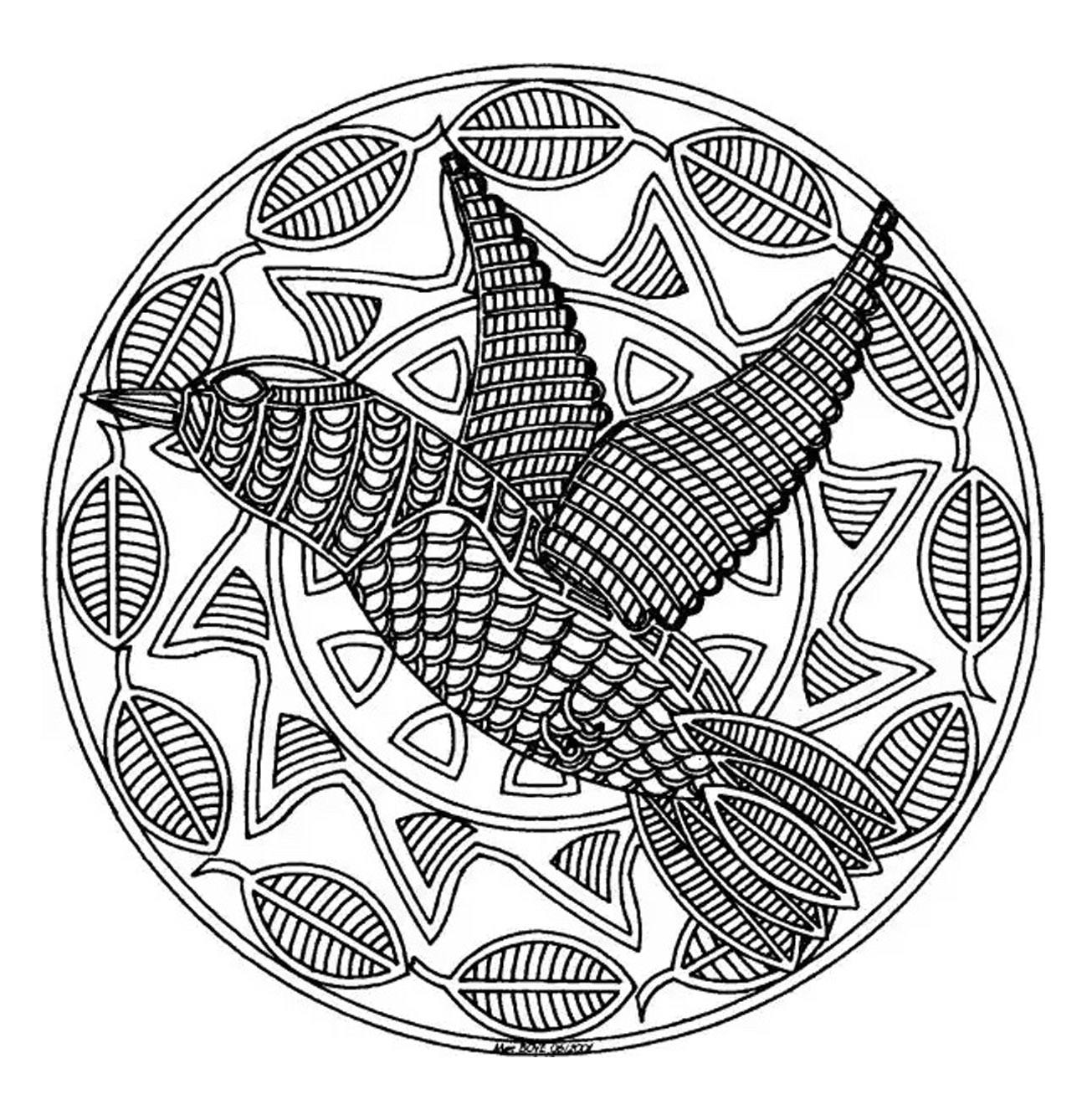 free mandala difficult to print bird mandalas coloring pages
