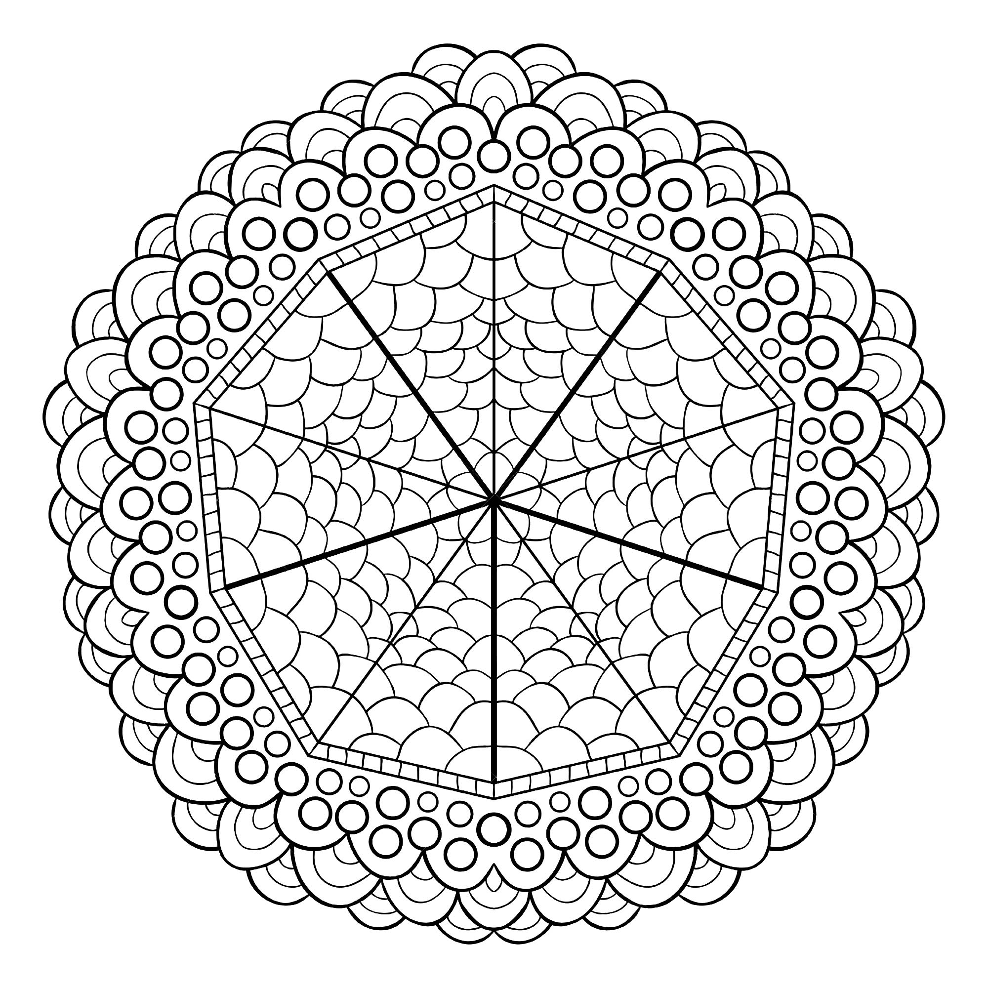 Unique mandala design - Mandalas Adult Coloring Pages