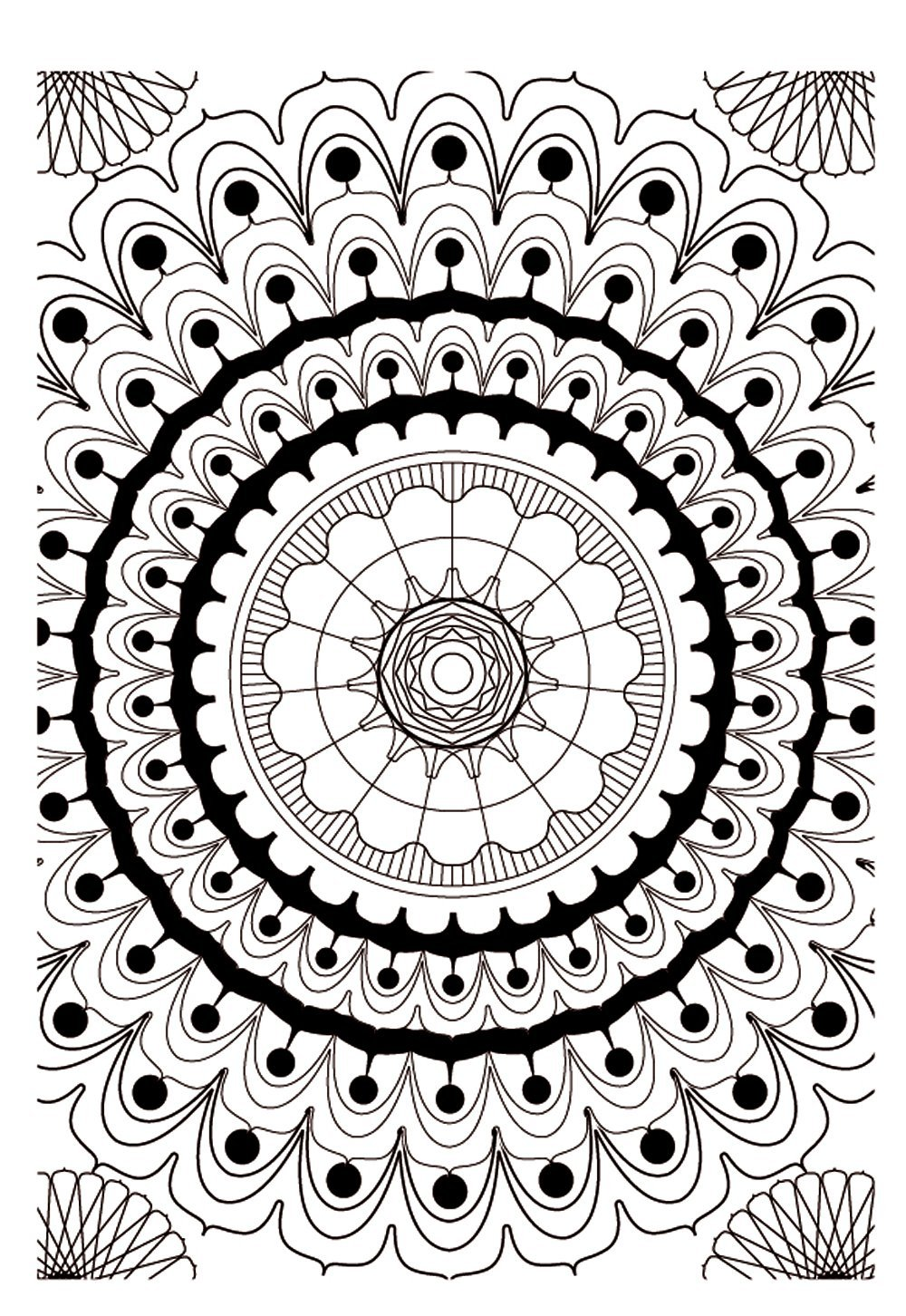 Mandala 2 - M&alas Adult Coloring Pages
