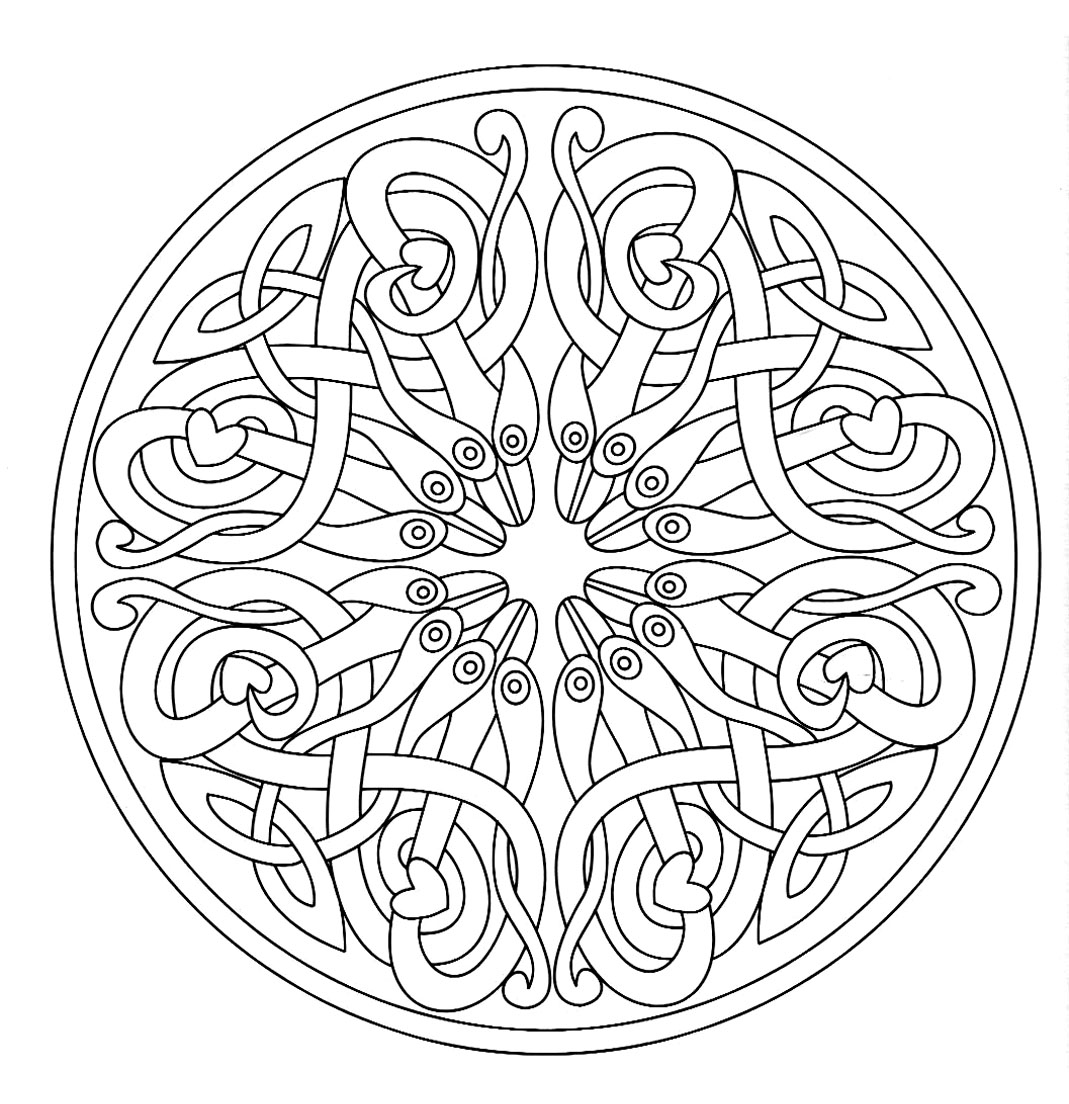 Mandala 7 m alas adult coloring pages - Mandala pour adulte ...